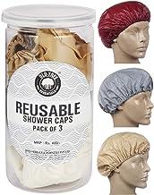Old Tree Reusable Bath Cap (Cream) -Set of 3