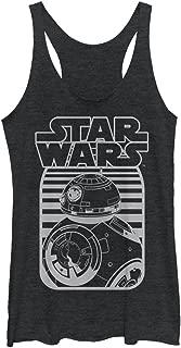 Star Wars The Force Awakens Women's BB-8 Stripe Logo Racerback Tank Top