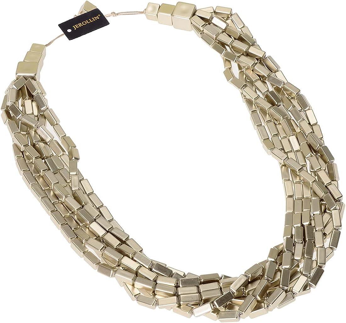 Fashion Multilayer Rectangular Beads Chain Choker Collar Necklace Cluster Strand Handmade Bib Statement Necklace