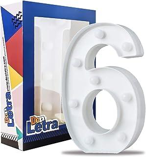 DON LETRA - Números Decoración LED Números Decorativos con LED Lámparas Decoradas LED Luces Decorativas LED Luz de Decoración Diseño de Números 0-9 Color Blanco (6)