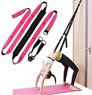 KimDaro Multi-Purpose Waist Exercise Band - Waist Back Bend Assist Trainer Flexibility & Yoga Stretching Leg Stretcher Strap w/Door Anchor for Dance Gymnastics Training Fitness