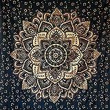 Momomus Tapiz de Mandala - De Algodón - Decoración de