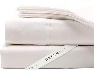 DreamFit 3-Degree 300 Thread Count Select World Class Cotton Sheet Set, Queen, White