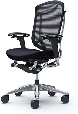 オカムラ オフィスチェア コンテッサ セコンダ 可動肘 ハイバック ウレタンキャスター仕様 クッション ブラック CC83XR-FPC1