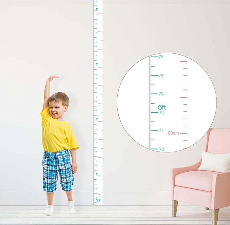 Kolymax Height Chart For Kids Growth Chart Ruler Wall Decor For Measuring Kids Boys Girls White Large 83 1 97