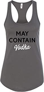 Panoware Women's Funny Day Drinking Tank Top | May Contain Vodka