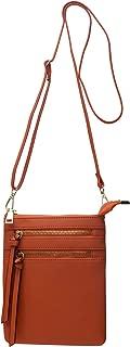 Crossbody Purses and Handbags for Women Small Multi Zipper Pocket Crossover Bag Over the Shoulder