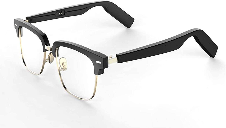 DUOYE Bone Conduction Smart Glasses, TWS Smart Bluetooth Sunglasses, Mirrors, Waterproof, Sweat-Proof Sunglasses, Sports, Music, Outdoor