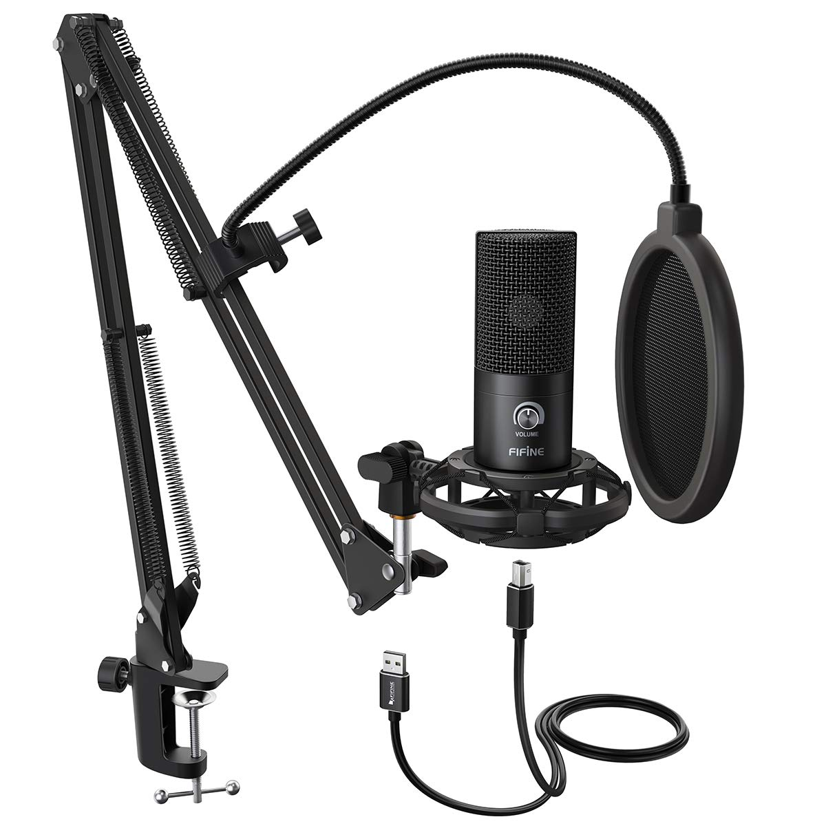 FIFINE Microphone Adjustable Instruments Streaming T669