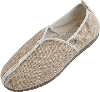Tianrui Crown Men's Linen Espadrilles Slip-on Loafer Oxfords Flat Shoe