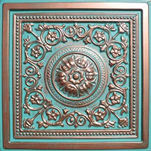 """30pc of Majesty Copper/Patina (24""""x24"""" PVC 20 mil) Ceiling Tiles - Covers About 120sqft"""