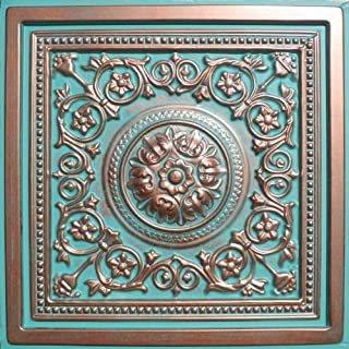 Majesty Antique Copper Patina (24x24 PVC) Ceiling Tile
