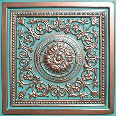 "30pc of Majesty Copper/Patina (24""x24"" PVC 20 mil) Ceiling Tiles - Covers About 120sqft"