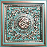 30pc of Majesty Copper/Patina (24'x24' PVC 20 mil) Ceiling Tiles - Covers About 120sqft - Drop-in Grid System Tiles!