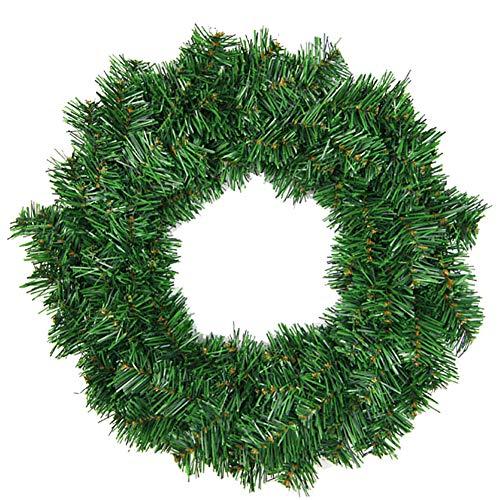 MoGist Corona de Navidad Fácil Verde Christmas Wreath Corona de Navidad para Puerta Corona Árbol de Navidad decoración Corona, Grün-40cm, 40 cm