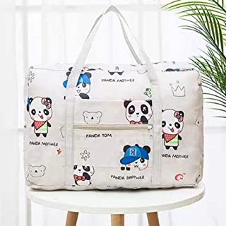 WOYAOFA Portable Storage Bag Large Capacity Travel Storage Clothes Packing Bag Waterproof Luggage Bag Polyester Material Storage Bag (Color : White)