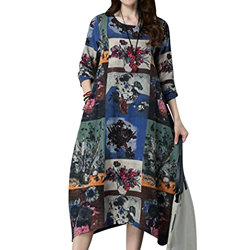 f5a9b899e7 Jacansi Women s Summer Floral Print Short Sleeve Casual Tunic Shirt Dress 5  Colors S-5XL