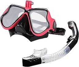 Lingge Duikbril met schroefhouder, panorama HD, anti-condens, camera, snorkelbril voor mannen en vrouwen