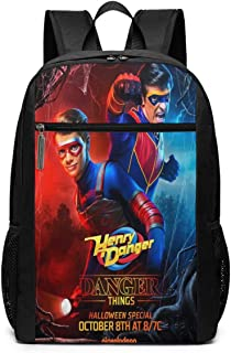 Mochila de Viaje de Mochila Escolar, Danger TV Show of Henry Backpacks Travel School Large Bags Shoulder Laptop Bag For Men Women Kids
