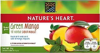 Nature's Heart Té Verde, Sabor Mango, 20 Sobres, 34 g