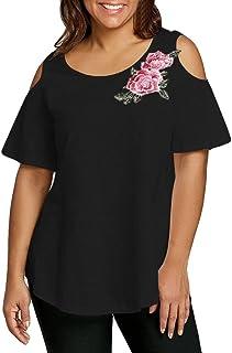 2f4836ecdb4 FAMILIZO Camisetas Mujer Verano Blusa Mujer Elegante Camisetas Mujer Manga  Corta Algodón Camiseta Mujer Camisetas Mujer