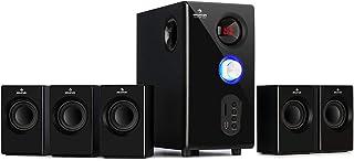 auna Concept 520 - Sistema de Altavoces 5.1 , Sistema de Audio Envolvente Activo , Subwoofer OneSide 6,5