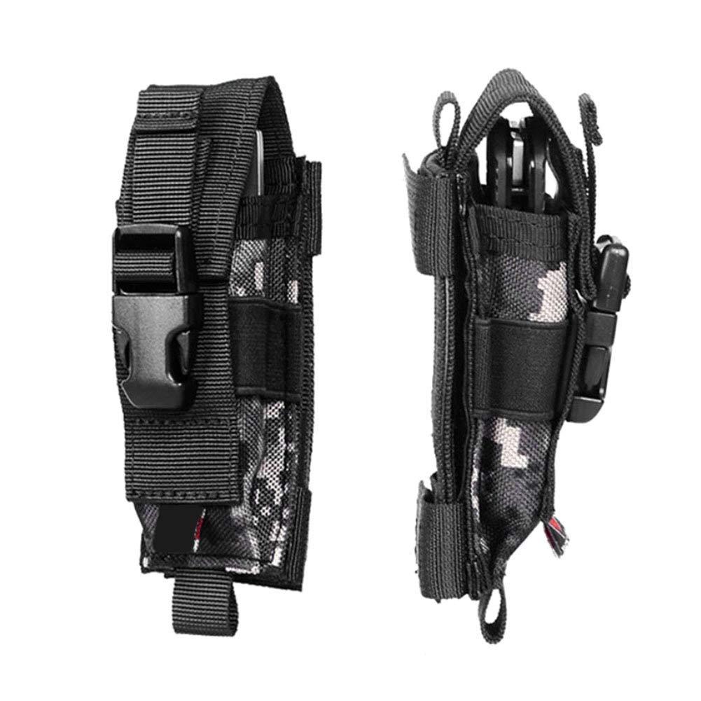 Negro Bolso Combinado de Nylon,bolso Militar de Nylon Port/átil al Aire Libre Multifuncional de la Bolsa del Almacenamiento del Cuchillo Pistolera de la Bolsa de la Linterna