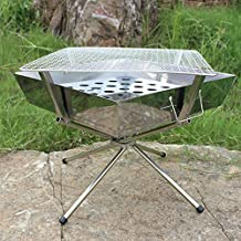 CBWZDJZDS Mini Bamboo Grill Outdoor Portable Charcoal Grill New Home Small Bbq Grill 35X20X10Cm