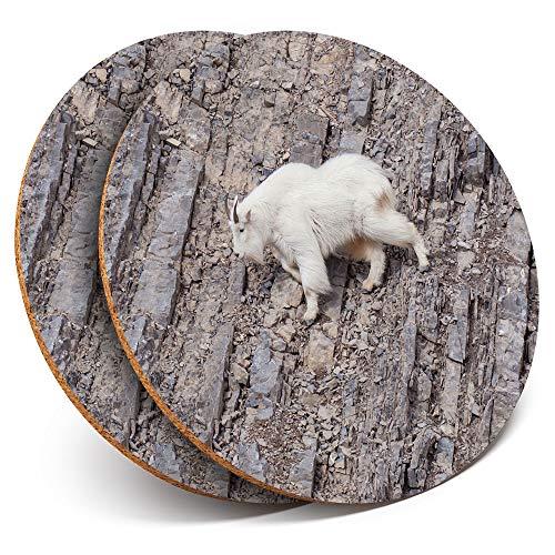 Destination Vinyl ltd - Posavasos (2 Unidades), diseño de Cabra escalando