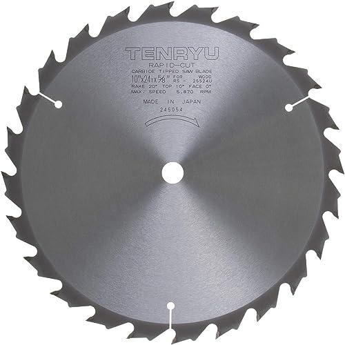 "popular Tenryu high quality RS-25524-U 10"" Carbide Tipped Saw Blade sale ( 24 Tooth ATB Grind - 5/8"" Arbor - 0.079 Kerf) online"