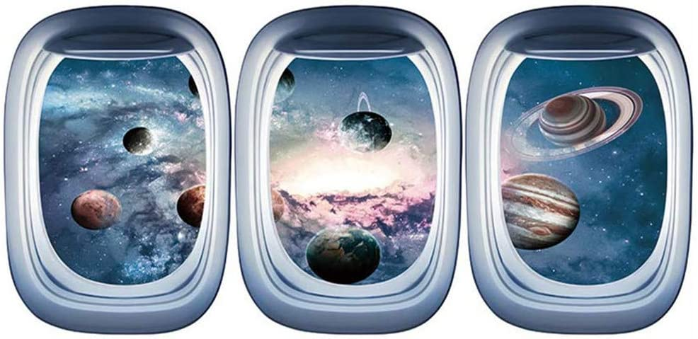 RYGHEWE Wall Stickers for Living Window Airplane Room Decor Bargain Max 55% OFF