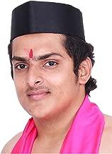 KALAPURI Typical Maharashtrain Black Gandhi Topi (Turban)