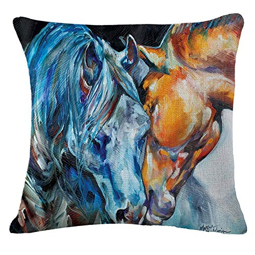 Square Throw Pillow Case Cushion Cover Pillowcase for Sofa 18'X 18' (5)