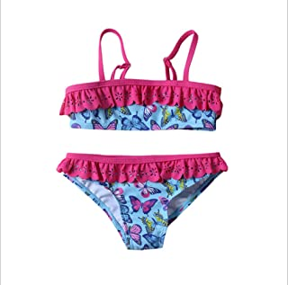6b7783a10ba Butterfly Print Sling Bikini Beach 2-Piece Swimsuit Girls Swimwear Size 4-8  Years