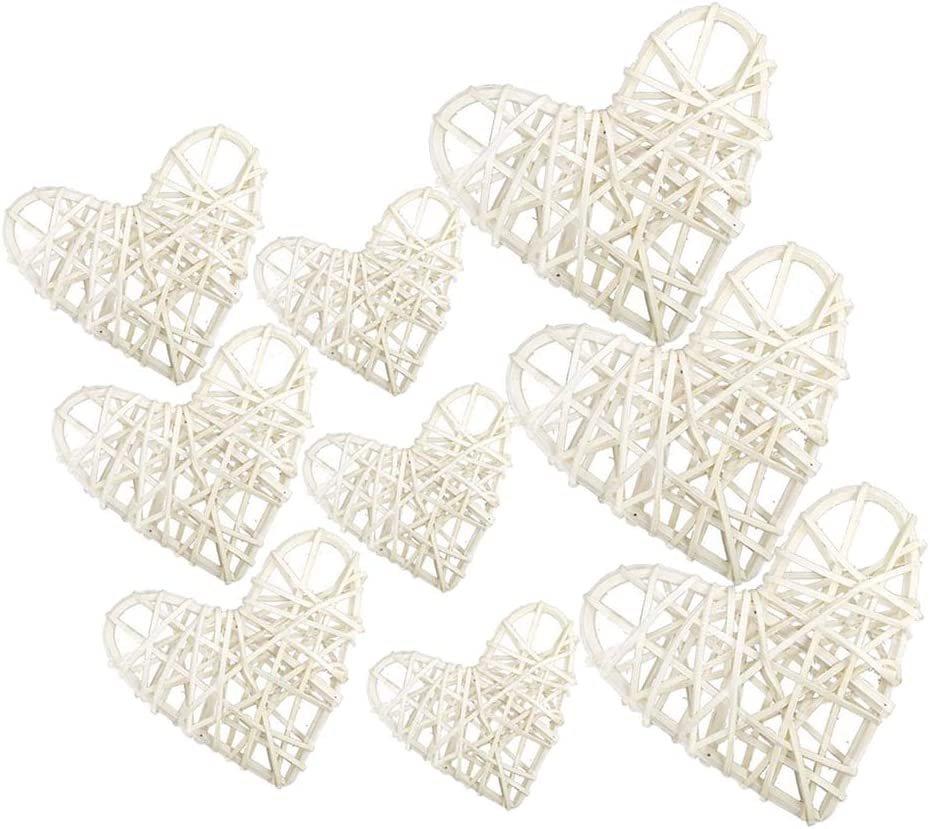 Wedding Party Decoration P Prettyia 9-Pack 60//80//100mm Love Heart Wicker Rattan Balls Decorative Balls for Bowls as described Natural Vase Filler Coffee Table Decor