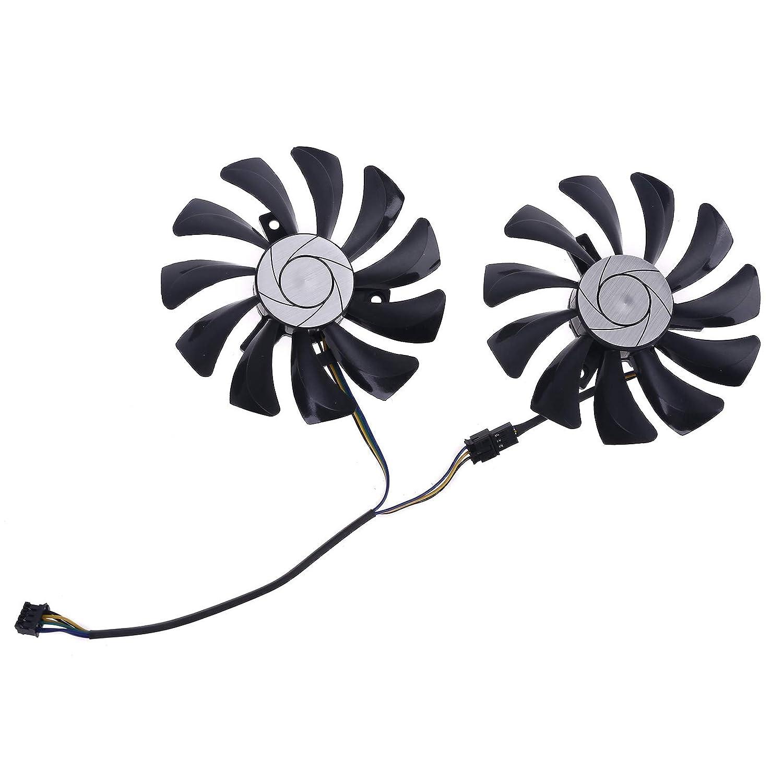 geneic 1 par de ventilador de repuesto para MSI GTX 1060 OC 6G GTX 960 P106-100 P106 GTX1060 GTX960 - 1 par de ventiladores de 85 mm