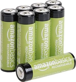 Amazon Basic品牌 充電式鎳氫電池 5號 8個裝 (最小容量1900mAh、約可使用1000回)
