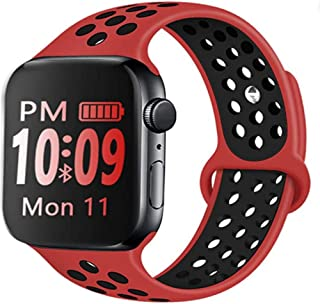 Silicone Watch Sport Bands (42 /44MM) (42 / 44MM Large/Medium, Red)