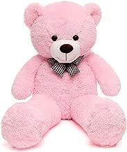 MorisMos Teddy Bear Soft Stuffed Bear Animals Plush Toy for Girlfriend Kids (Pink, 39 Inch)