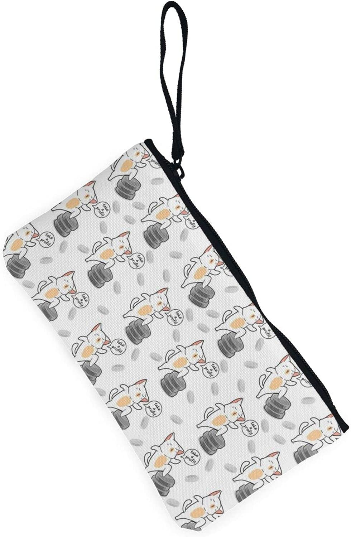 AORRUAM Cute cat Canvas Coin Purse,Canvas Zipper Pencil Cases,Canvas Change Purse Pouch Mini Wallet Coin Bag