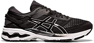 ASICS Men's Gel-Kayano 26 (2E) Running Shoes, 8.5M, Black/White