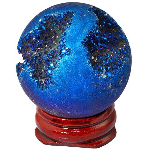 mookaitedecor Bola de cristal de ágata geoda con revestimie