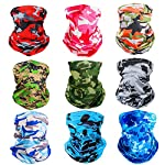 Corona Virus protection products 6 Pack UV Face Mask Shield – Multipurpose Neck Gaiter – Bandana for Men
