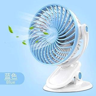Mini Ventilador Usb,Clip De Ventilador De Mesa Rotación De 360 Grados Batería Ajustable De 3 Velocidades Azul Cielo Mini Escritorio Usb Silencioso Alimentado Para El Hogar Oficina Dormitorio V