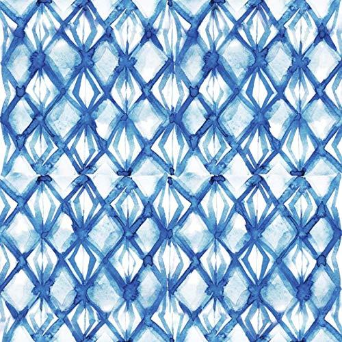 HaokHome 96047 - Papel pintado para azulejos (45 x 299,7 cm), color azul índigo