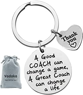 Thank You Keychain for Coach Thankful Gifts A Good Coach Can Change A Game A Great Coach Can Change A Life Thank You Gifts for Men and Women Thank You Gift for Coaches