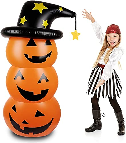 new arrival GANGMU TEC Halloween Cute Pumpkin Tumbler, Inflatable Holiday 2021 Decoration for Outdoor or Indoor Party Supplies (4.5 popular Ft) outlet online sale