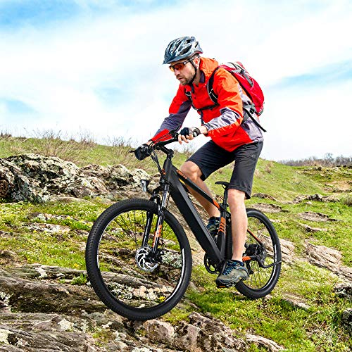 27.5 Zoll Elektrofahrrad, Mountainbike E-Bike 250W Leichtes MTB-Moped-Fahrrad 36 V 10,4 Ah Lithiumbatterie-Doppelbremssystem, Poland Direct