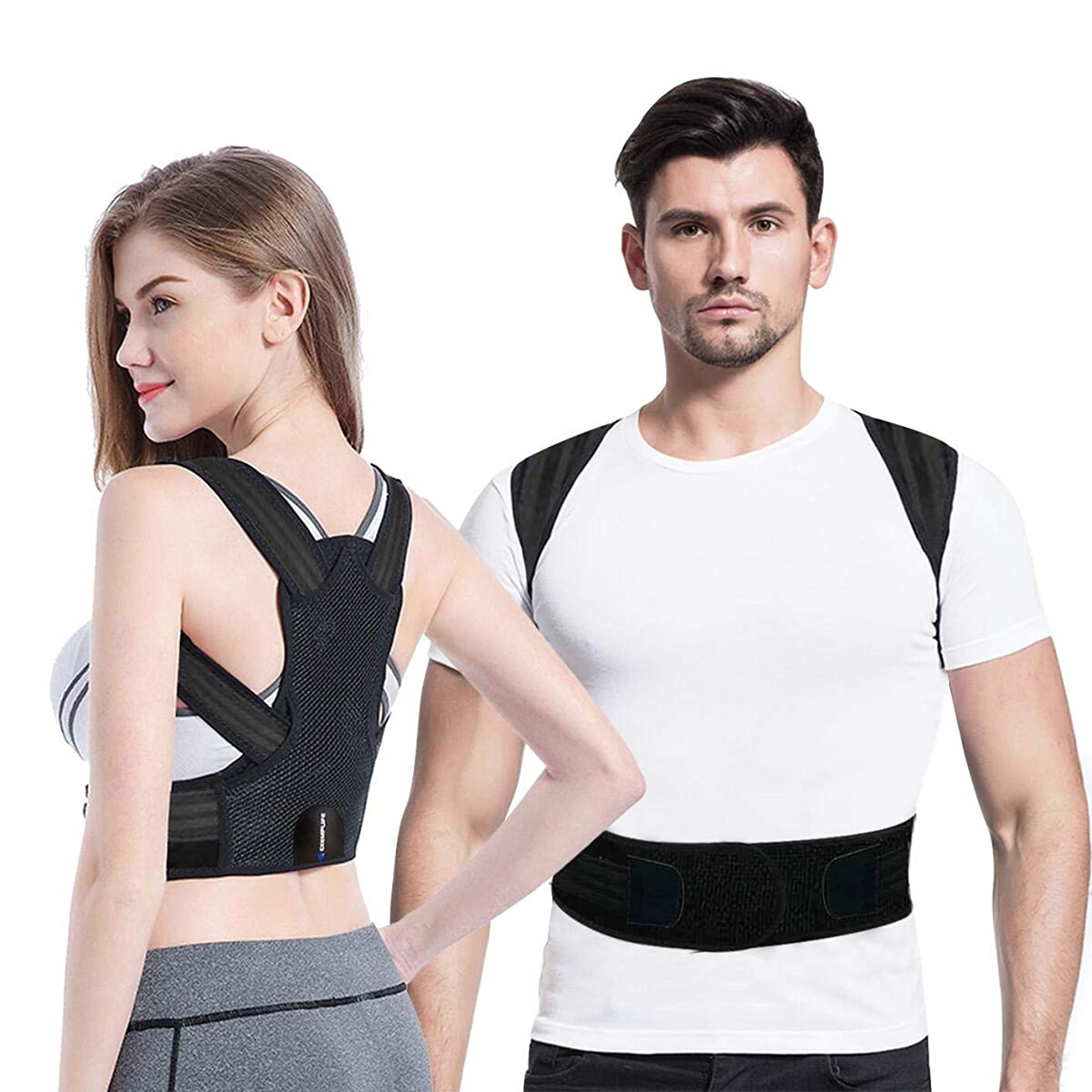 Posture Corrector for Women and Men,Exemplife Adjustable Back Brace Provides Lumbar Support,Prevent Slouching and Provide Back Pain (XL(36