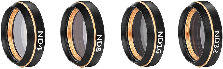 Meijunter Neutral Density Camera Lens Filters Set for DJI Mavic Air, HD golden Circle Neutral Density ND4+ND8+ND16+ND32 Camera Lens Filters Set